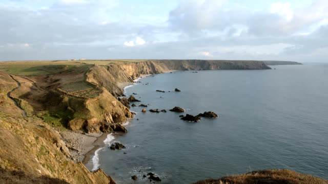coastal timelapse - pembrokeshire stock videos & royalty-free footage