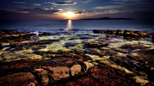 Coastal twilight scene