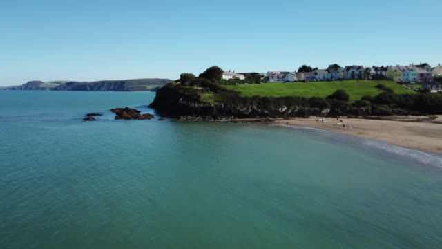 coastal village / wales, uk - boulder rock stock videos & royalty-free footage