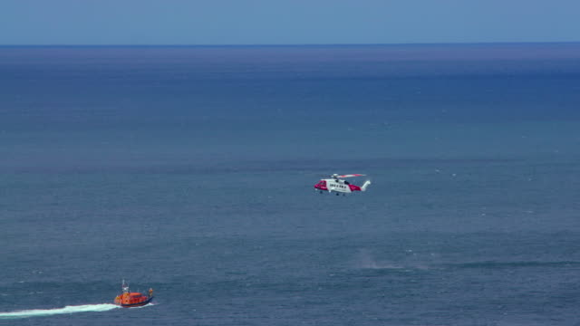 Coastguard Helicopter Agusta Westland Aw189 & Lifeboat Scarborough, North Yorkshire, England