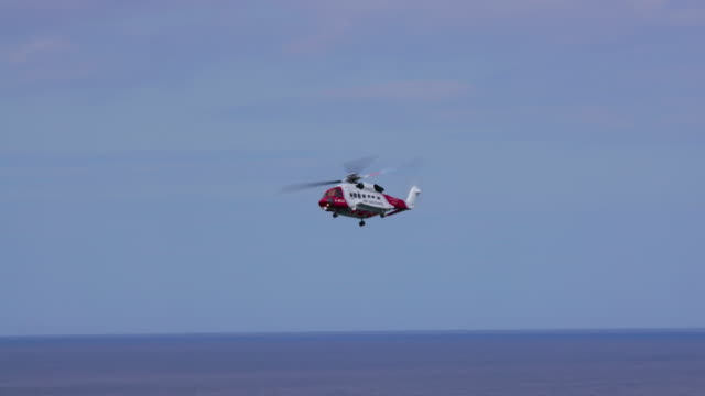 coastguard helicopter agusta westland aw189 scarborough, north yorkshire, england - coast guard stock videos and b-roll footage