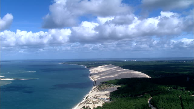 coastline  - aerial view - aquitaine, gironde, france - aquitaine stock videos and b-roll footage