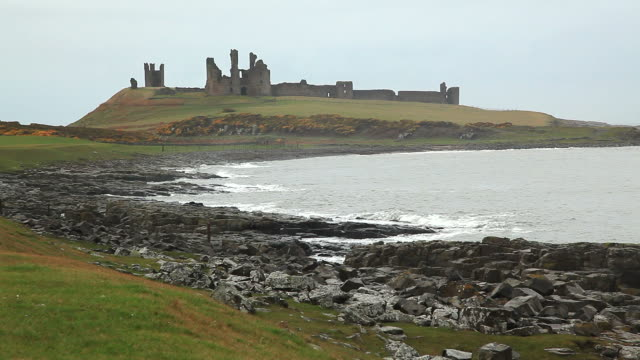 Coastline and Ruin of Dunstanburgh Castle