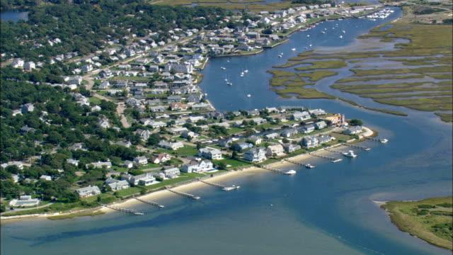 Coastline Around Dennis Port  - Aerial View - Massachusetts,  United States