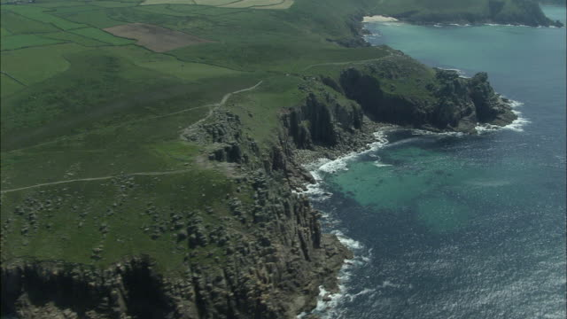 coastline around land's end - cornwall england stock videos & royalty-free footage