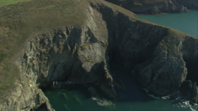 coastline east of solva - pembrokeshire stock videos and b-roll footage