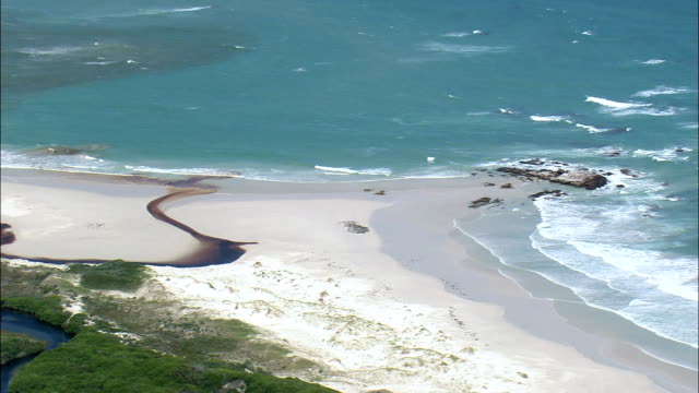 Coastline In Agulhas National Park  - Aerial View - Western Cape,  South Africa