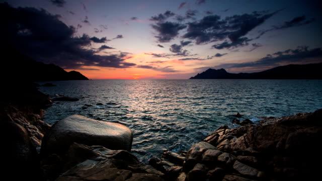 coastline in twilight - rocky coastline stock videos & royalty-free footage