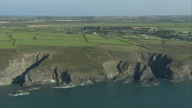 coastline near solva - pembrokeshire stock videos and b-roll footage