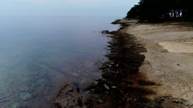 coastline of an island on adriatic sea - adriatic sea stock videos & royalty-free footage