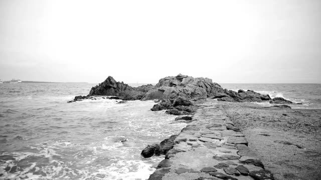 coastline of cannes. black and white. - earth goddess stock videos & royalty-free footage