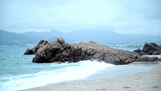 coastline of cannes. - earth goddess stock videos & royalty-free footage