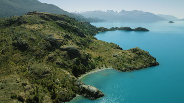 coastline of general carrera lake in chile - coastline stock videos & royalty-free footage