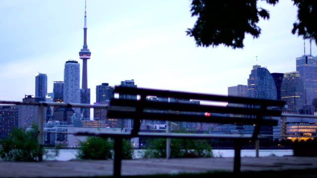Coastline of Lake Ontario in Toronto