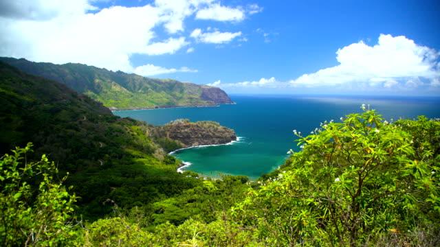 vídeos de stock e filmes b-roll de coastline of nahoe mountains a paradise pacific marquesas - territórios ultramarinos franceses