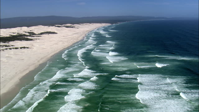Coastline Of the De Hoop Nature Reserve  - Aerial View - Western Cape,  Overberg District Municipality,  Cape Agulhas,  South Africa