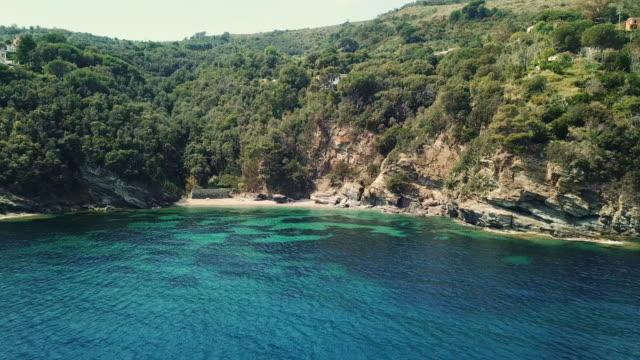 coastline - island of elba stock videos & royalty-free footage