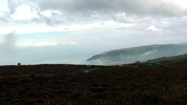 coastline - exmoor national park stock videos & royalty-free footage