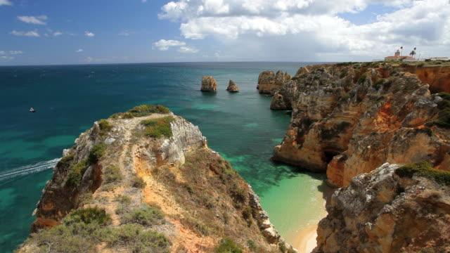 Coastline view of Ponta da Piedade, Lagos, Algarve, Portugal, Europe