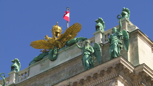 CU Coat of Arms of the Austrian Empire on Top of the Vienna Hofburg Palace