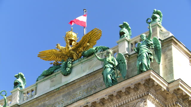 紋章、ウィーンのホーフブルク宮殿 cu - 上部分点の映像素材/bロール