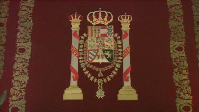 CU ZI Coat of arms, Royal Palace, Madrid, Spain