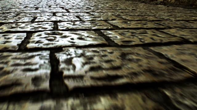 vídeos y material grabado en eventos de stock de calle de pavimento - desigual con textura