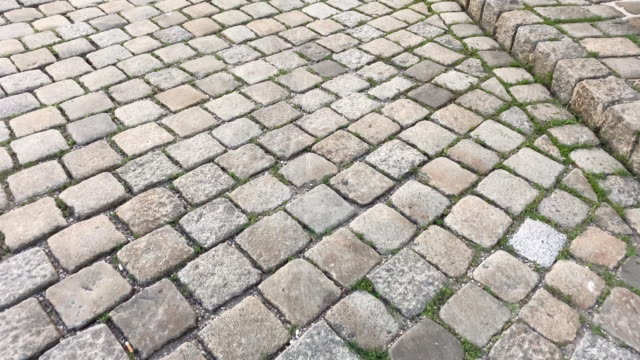 cobblestone old street - cobblestone stock videos & royalty-free footage