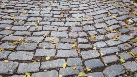 cobblestone pavement street floor - cobblestone stock videos & royalty-free footage