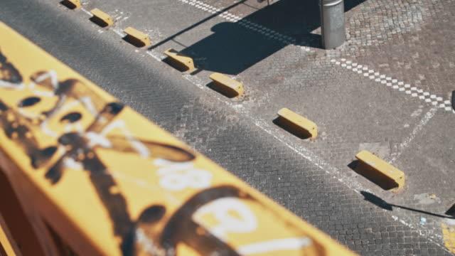 cobblestone road - railings stock videos & royalty-free footage