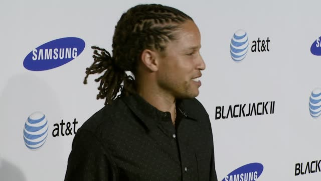cobi jones at the samsung blackjack ii launch party at beso in los angeles california on november 14 2007 - blackjack stock videos and b-roll footage
