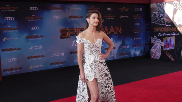 cobie smulders at the world premiere of spiderman far from home on june 26 2019 in hollywood california - red carpet event stock videos & royalty-free footage