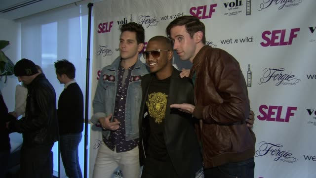 cobra starship and trey songz at self magazine celebrates the july music issue with cover star fergie at the hotel on rivington penthouse on june 05... - penthouse magazine stock videos & royalty-free footage