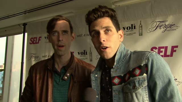 cobra starship on being invited and fergie at self magazine celebrates the july music issue with cover star fergie at the hotel on rivington... - penthouse magazine stock videos & royalty-free footage
