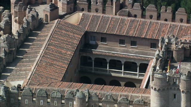 Coca Castle  - Aerial View - Castille and León, Segovia, Coca, Spain