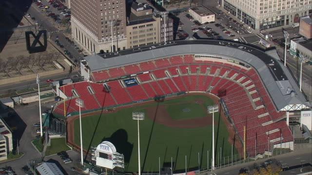 aerial coca-cola field / buffalo, new york, united states - buffalo new york state stock videos & royalty-free footage