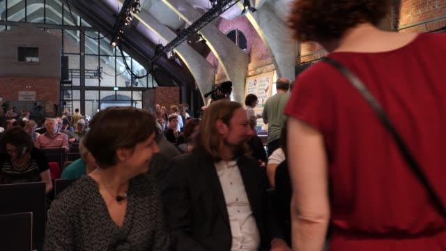 cochair of the green party's parliamentary group anton hofreiter attends a greens party congress ahead of european elections on may 18 2019 in berlin... - green party stock videos and b-roll footage