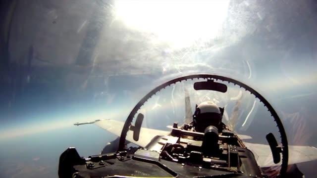 cockpit video from an f/a18 during takeoff in flight and during landing - cockpit stock videos & royalty-free footage