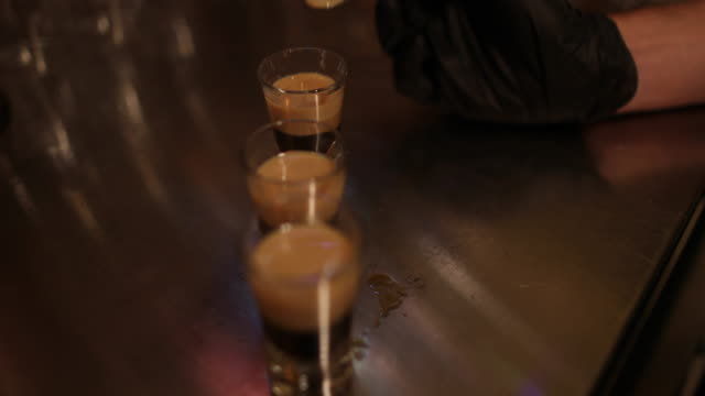 cocktail shots in making - coffee drink stock videos & royalty-free footage