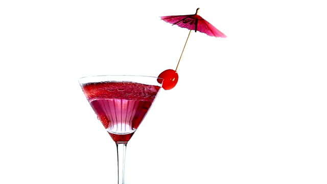 cocktail - cherry stock videos & royalty-free footage