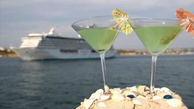 cocktails and a cruise ship - refreshment stock videos and b-roll footage