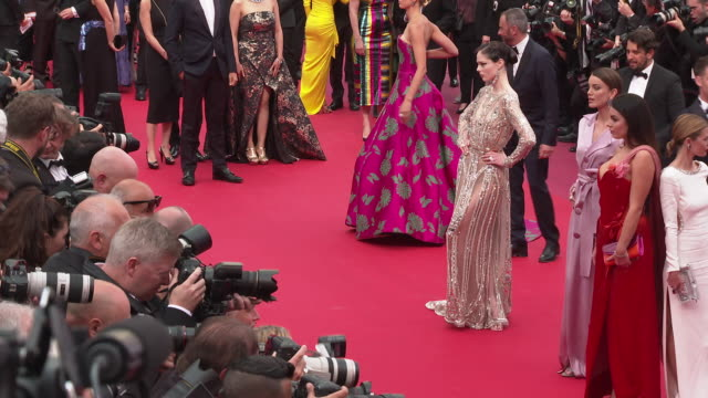coco rocha at 'once upon a time in hollywood ' red carpet arrivals the 72nd cannes film festival at grand theatre lumiere on may 21 2019 in cannes... - grand theatre lumiere stock videos & royalty-free footage