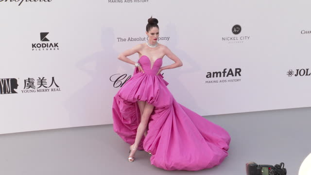 Coco Rocha at the amfAR Cannes Gala 2019 Arrivals at Hotel du CapEdenRoc on May 23 2019 in Cap d'Antibes France