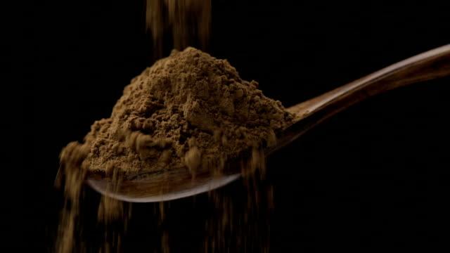 cocoa powder - cocoa powder stock videos & royalty-free footage