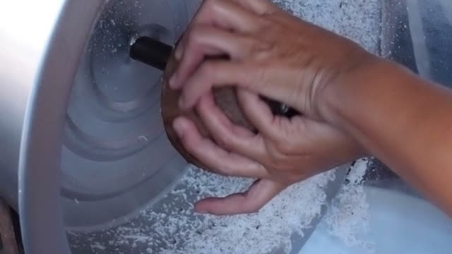 coconut grating machine - husking stock videos & royalty-free footage
