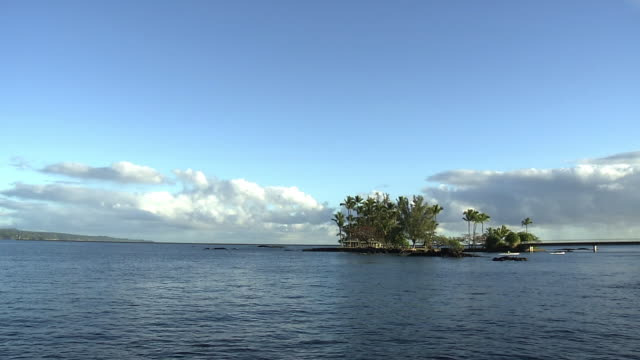 coconut island in hilo bay, hi, usa - big island hawaii islands stock videos & royalty-free footage