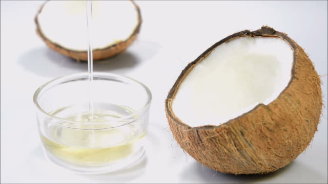 coconut oil - natural condition stock videos & royalty-free footage