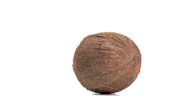 Coconut turning in super slow motion
