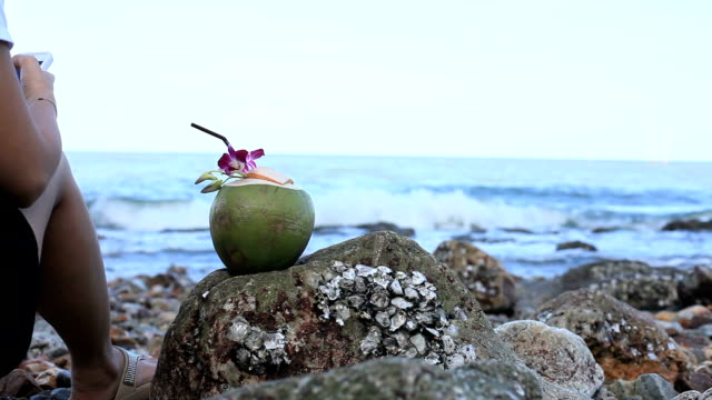 coconut with beach - rum stock videos and b-roll footage