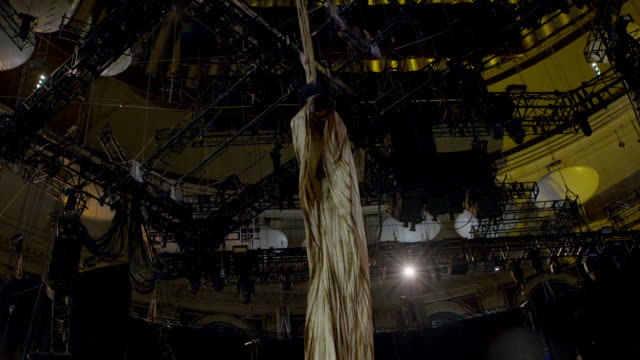 cocoon training at 'ovo cirque du soleil' behind the scenes at royal albert hall on january 09 2018 in london england - cirque du soleil stock videos & royalty-free footage
